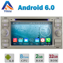 "7"" Android 6 Octa Core 2GB RAM 32GB ROM Car DVD Player Radio Stereo GPS For Ford Kuga Mondeo Connect Transit Fusion Focus II DAB"