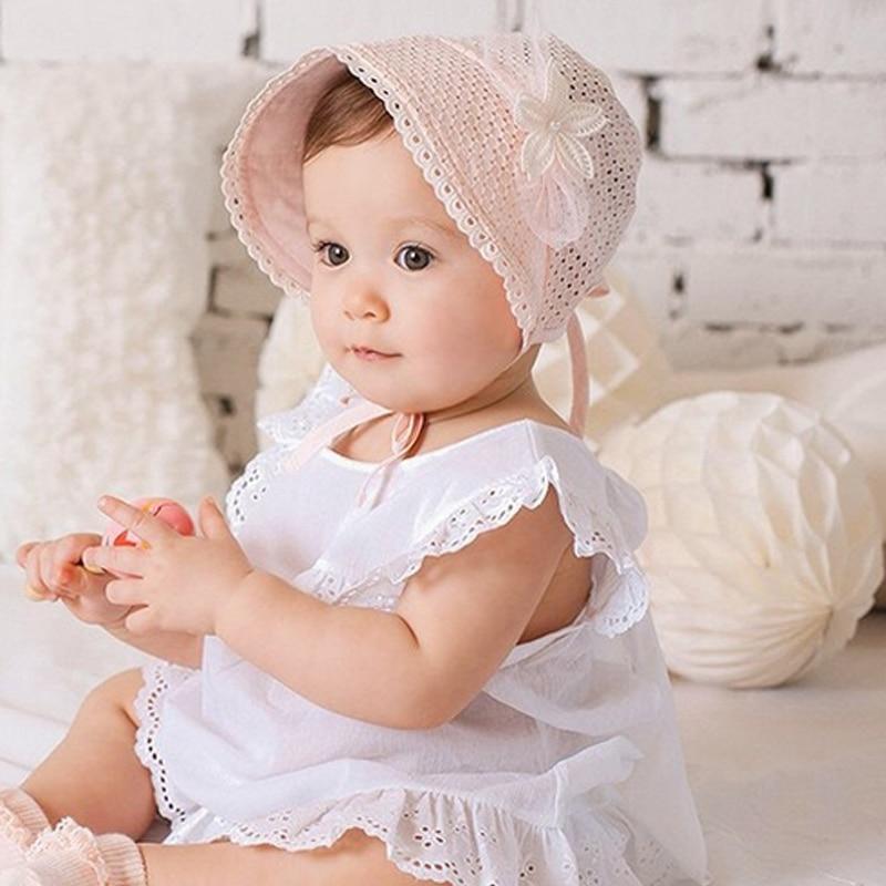 Ambitious Spring Summer Sweet Princess Cap Hollow Baby Girls Hat Beanie Cotton Bonnet Kids Flower Lace Floral Caps Ik88