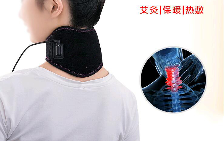 Cervical Vertebra Far Infrared Heating Massager Electric Neck Moxa Moxibustion Warming Massage Spine Pain Release Joint Therapy electric knee massager belt leg knee joint moxa moxibustion hot compress rheumatism leggings field heating kneepad support brace