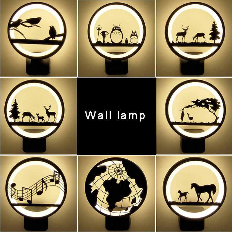 Теплый белый/холодный белый современный светодиодный настенный светильник для гостиной спальни прикроватная тумба черный 12 Вт акриловый светодиодный настенный светильник для дома