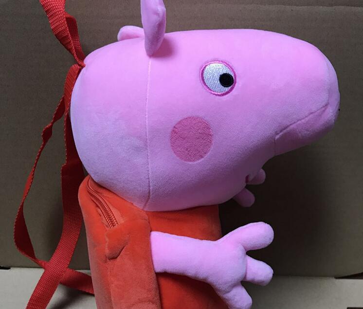 100% Genuine peppa pig 44cm Children's bags George Peppa Plush Backpack Kids Birthday Christmsa toy gift Hot sale 1