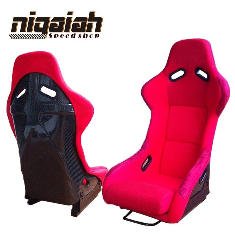 2 PCS/LOT OEM MJ seau et siège inclinable en fibre de carbone Sport siège de course siège de voiture dérive