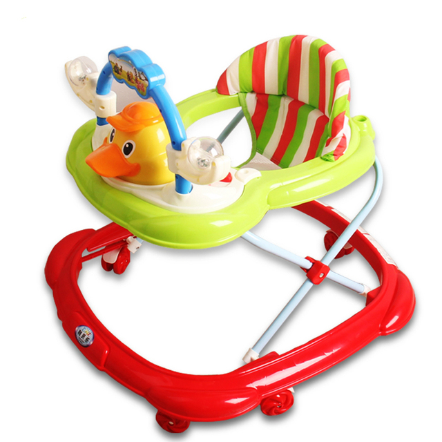 Hot Sale Baby Walkers Anti Rollover Multifunctional Baby Walker Folding U Type Universal Wheel Baby Scooter With Music Plate