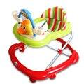 Venta caliente Andadores Anti Rollover Bebé Multifuncional Plegable Andador U Tipo de Placa Universal de Ruedas Scooter de Bebé Con Música
