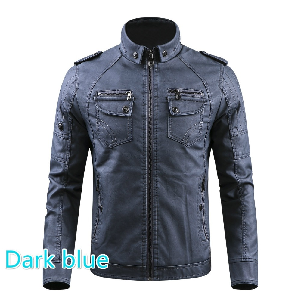 HTB1lj8UhkzoK1RjSZFlq6yi4VXa8 Men PU Leather Jacket 2019 New Autumn Winter Men's Thick Casual Warm Stand Collar Zipper Coats Male Fashion Motorcycle Jackets