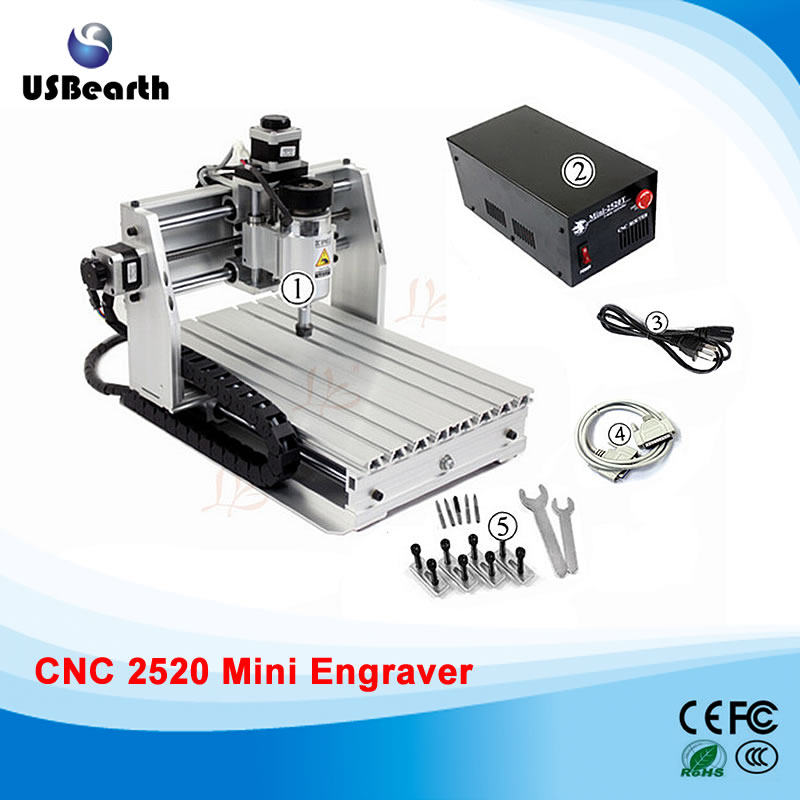 Cheapest cnc router mini 2520T 200W spindle cnc engrave machine /mini cnc router cheap price mini cnc router 2520t 3 axis 200w spindle for new user or school tranining