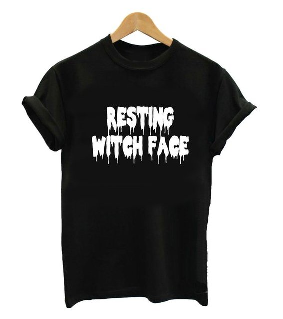 resting witch face shirt sweater fall autumn shirt clothing cute halloween costume decorations decor outift