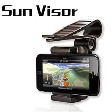 universal car phone holder sun visor mobile 360 Rotatable mount For iPhone X Navigation Samsung s8 foldable