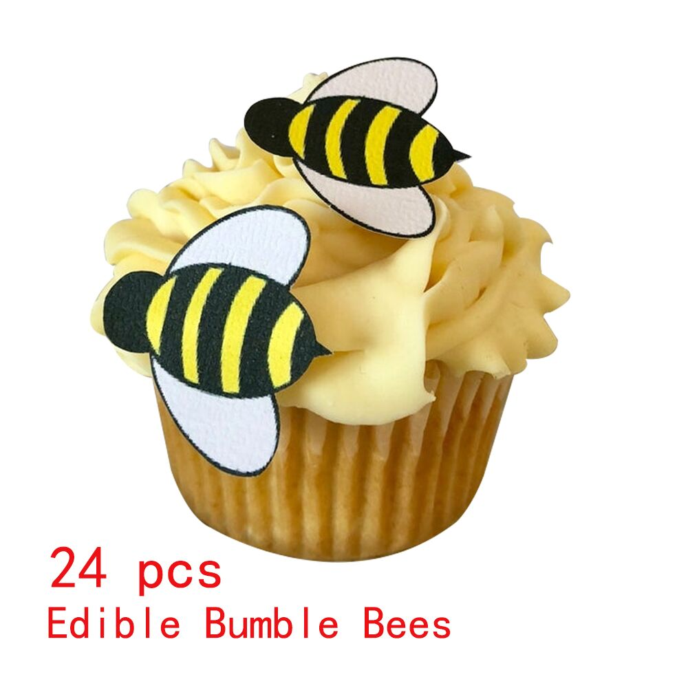 12 OR 24 PRE-CUT STAND UP PIRATE DESIGN EDIBLE RICE PAPER CUP CAKE TOPPERS