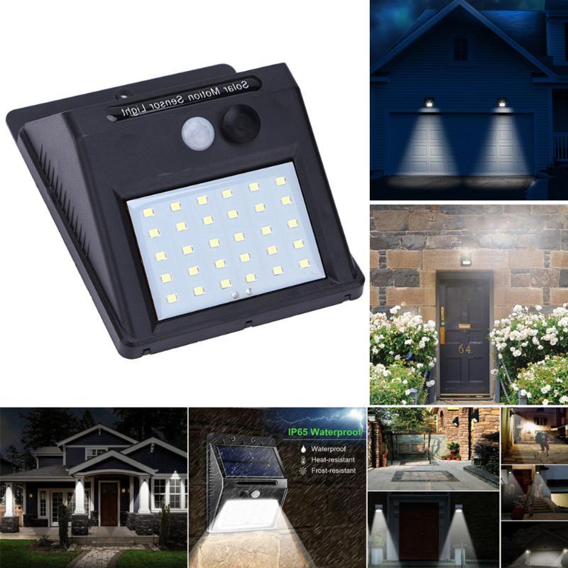 1-4Pcs 20/30 LED Solar Light PIR Motion Sensor Waterproof Outdoors Energy Saving Street Lamp Yard Path Solar Garden Light