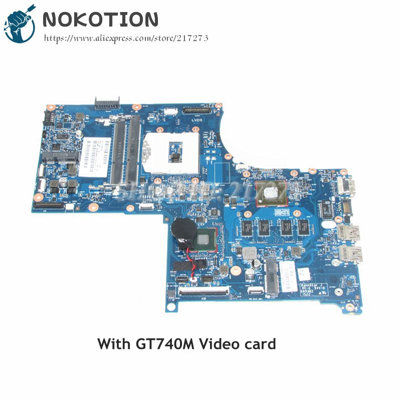 NOKOTION 720266-001 720266-601 Laptop Motherboard For HP Envy 17 17j M7 MAIN BOARD DDR3L GT740M 2GB Video Card 744009 501 744009 001 for hp probook 640 g1 650 g1 motherboard socket 947 hm87 ddr3l tested working