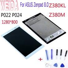 Запасной ЖК-дисплей WEIDA 8 дюймов для Asus Z380, Z380KL, Z380M, ЖК-дисплей Z380C, Z380CA, кодирующий преобразователь сенсорного экрана в сборе P022, P024, P00A