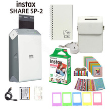 Fujifilm Instax Share Smartphone Printer SP 2, Two Colors Silver and Gold + Matched Case Gift
