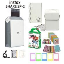 Fujifilm Instax לשתף Smartphone מדפסת SP 2, שני צבעים כסף וזהב + מתאים מקרה מתנה