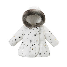 new fashion 2016 autumn winter infant coat baby padded jacket girls padded outerwear girls coat 24M-7T