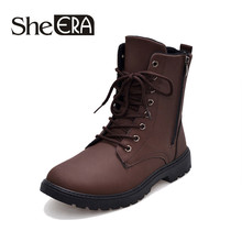2019 New Tactical Waterproof Winter Warm Snow Boots Men Vintage Leather Motorcyc