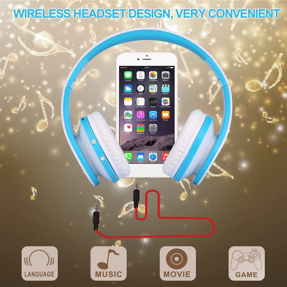 цена на 5PCS Wireless Bluetooth Headphones Foldable Stereo Bluetooth Headset Mic For iPhone PC Laptop Cellphone Samsung