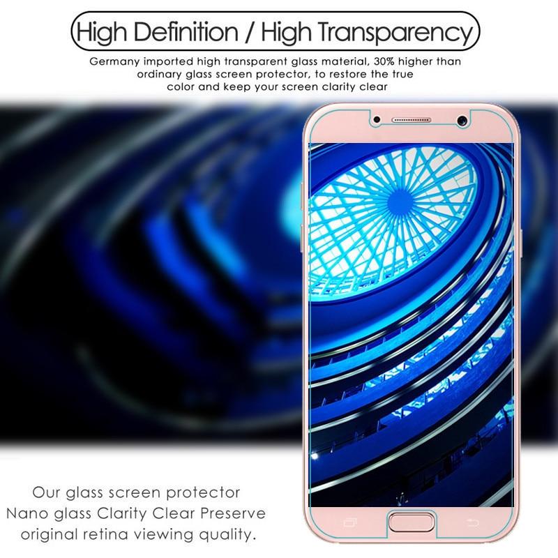 ON SALE 9 H Memperkuat Pelindung Layar Film Untuk Samsung A3 A5 A7 A6 - Aksesori dan suku cadang ponsel - Foto 2