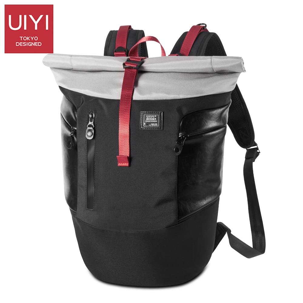 UIYI 2017 men's polyester backpack Japanese and Korean style flip cover waterproof man shoulder Back travel bag Men's #UYB7039 sinix sinix 7039