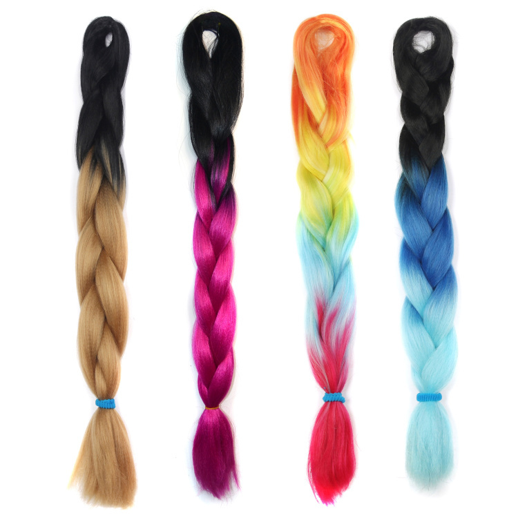 Synthetic Ombre Hair Color Hair Plaits Ponytails Bohemia Style Hair