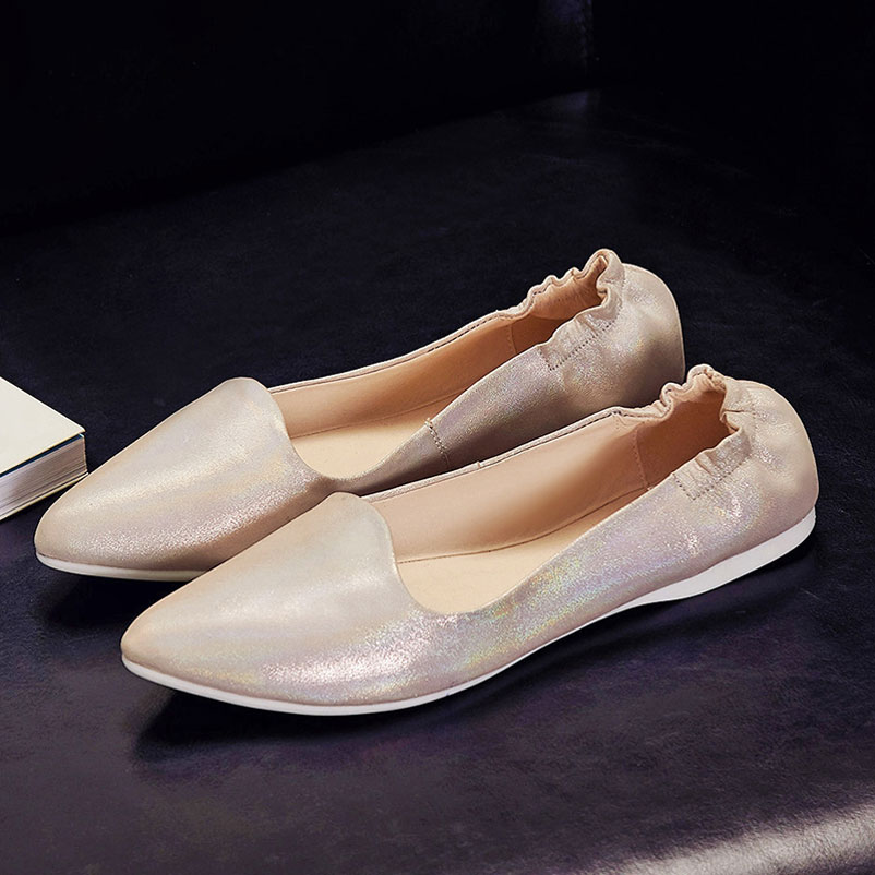 Plus Size 42 Shoes Woman brand Ballet Famous 2016 Spring Autumn Women Shoes Pointed Toe Footwear Real Leather Ladies Flat Shoes drfargo spring summer ladies shoes ballet flats women flat shoes woman ballerinas pointed toe sapato womens waved edge loafer