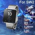 0.26mm 9 h à prova de explosão anti scratch temperado film vidro para sony smartwatch 2 sw2 relógio lcd filme protetor de tela 2.5d
