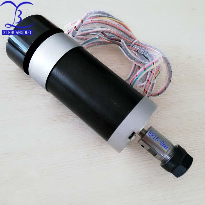 500W High speed Brushless Motor ER11 or ER16 DC 48V CNC Engraving Milling Air Cooled Spindle