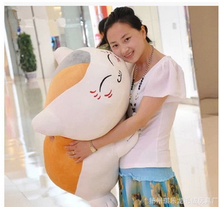 huge new creative plush teacher cat toy plush white Squinting cat doll gift about 80cm