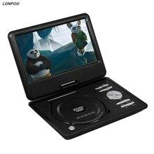 Lonpoo 9 дюймов портативный dvd плеер с поворотный экран, Игры и ТВ Функция Поддержка CD-плеер MP3/MP4 DVD плеер для дома, автомобиля