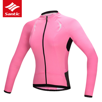 Santic Women Long Sleeve Cycling Jersey PRO Mountain Road Bike Jersey Anti-UV Breathable Bicycle DH Jersey Maillot Ciclismo