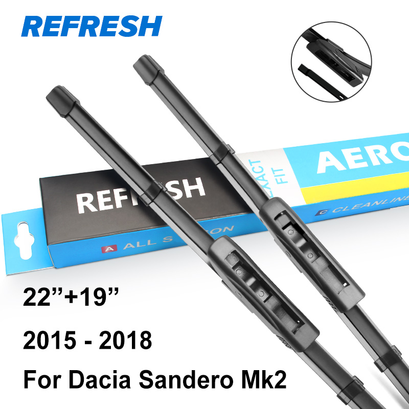 Обновления стеклоочистителей для Renault/Dacia Sandero Mk1 Mk2 точные Fit 2008 2009 2010 2011 2012 2013 - Цвет: 2015 - 2017  ( Mk2 )