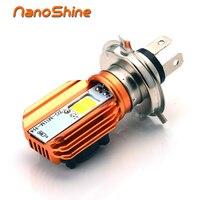 Nanoshine 2017 новые Двигатель цикл лампа фары H4 LED 20 Вт 2000LM удара скутер Accessoire Двигатель свет фар DRL огни
