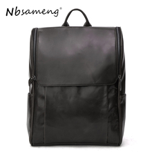 NBSAMENG 100% Genuine Leather Men Bags Brand Designed Cow Leather Backpacks Large Laptop Bags Casual Travel Bags Business Bags