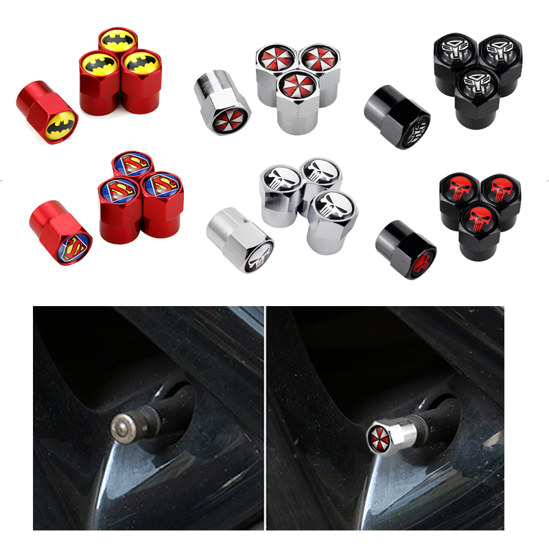 4pcs Aluminum Alloy Wheels Tire Valve Caps Stem Cover For Ford Honda TOYOTA Opel Chevrolet Audi BMW Fiat Jeep Car Accessories