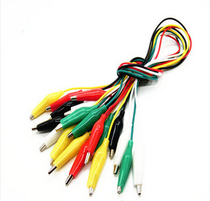 10set 10pcs Alligator Clips Electrical DIY Test Leads Alligator Double-ended Crocodile Clips Roach Clip Test Jumper Wire B14