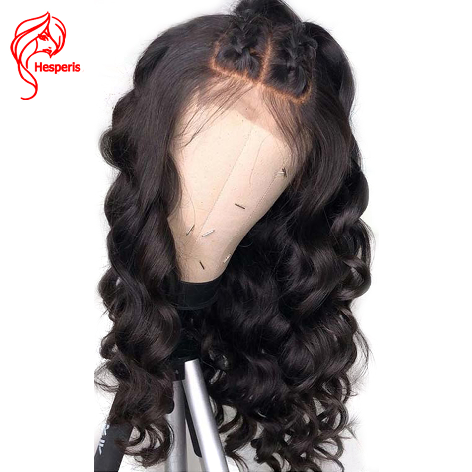 Hesperis 150 Density Silk Base Full Lace Human Hair Wigs Brazilian Remy Wave Silk Top Full Lace Wigs With Baby Hair Pre-Plucked