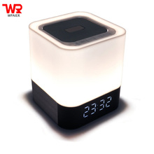 WPAIER DY28 Wireless bluetooth speaker portable outdoors Touch control bluetooth mni speaker alarm clock LED Table lamp