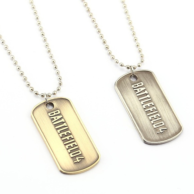 Game BattleField 3 Dog Tags Necklace Alloy Charm Pendant Cosplay Accessories Jewelry Gift