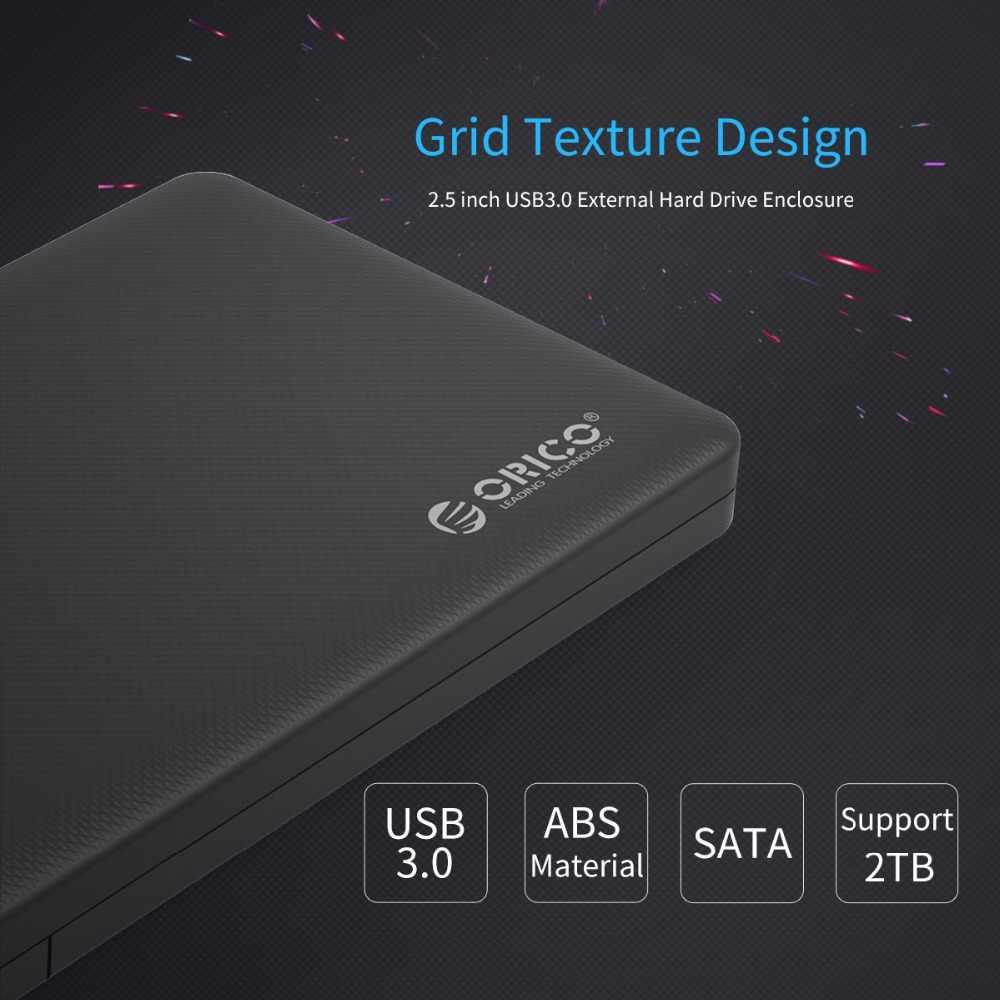ORICO, carcasa HDD de 2,5 pulgadas, SATA 3,0 a USB3.0 HDD, adaptador para Samsung Seagate SSD, disco duro HDD, caja externa