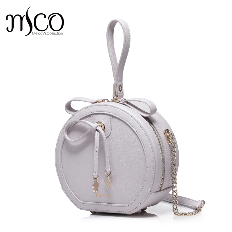 2017 New Soft Leather Bowknot Lady Round Handbag Candy Color Soft PU Leather Shoulder Bag Women Small Tote Girls Messenger Bag 2017 fashion new handbags sweet lady candy color plush small round bag high quality soft cute shoulder bag chain messenger bag