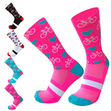 New 2019 Compression Cycling Socks Men Bicycle Road Bike Socks Running Sport Outdoor Socks Calcetines Ciclismo