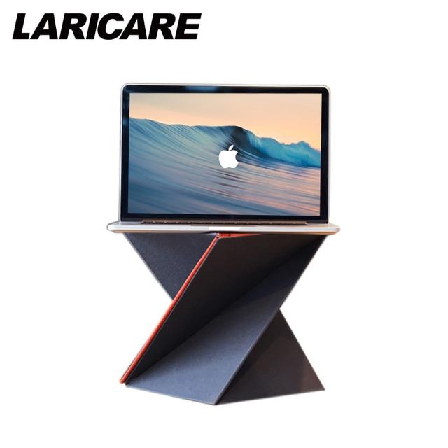 Laptop Berdiri levit8 foladed lapdesk ergonomis laptop untuk laptop pc notebook komputer laptop disesuaikan meja berdiri