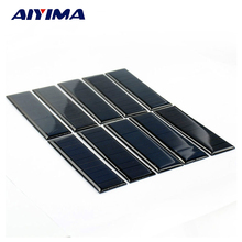 AIYIMA 10pcs Epoxy Solar Panel 100*28mm 5.5V 60mA DIY Photovoltaic Panel Cell Charger Lamp Light  Sun Power Solar Manels Modle
