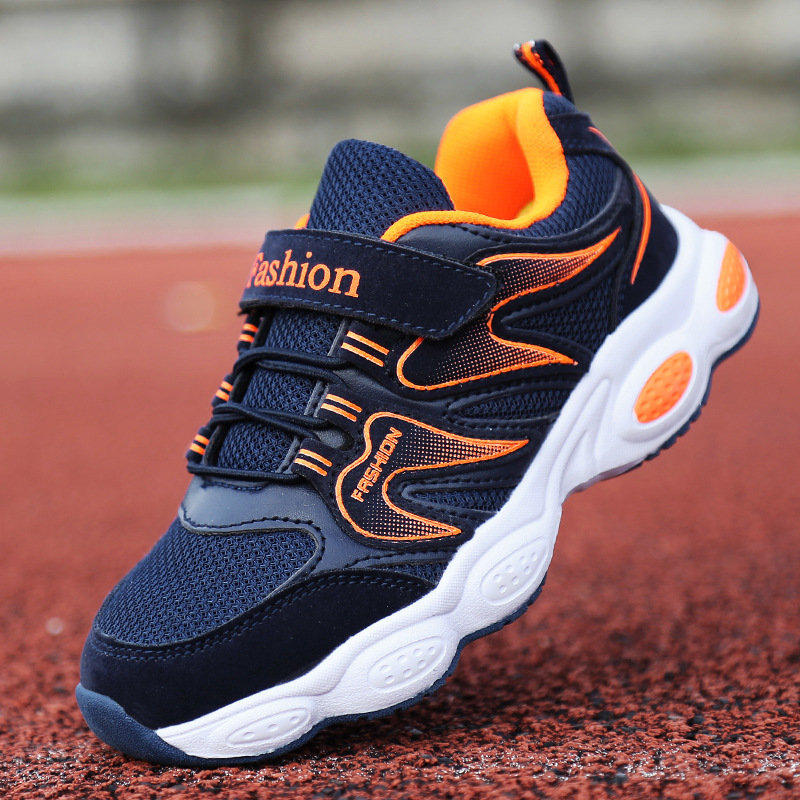 Fashion children's shoes 2018 autumn boy flame mesh breathable running