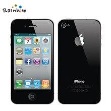 Orijinal Apple iPhone 4 iOS 16G Veya 32 GB ROM 3.5 inç 5MP Kamera WIFI GPS Cep Telefonu ücretsiz nakliye
