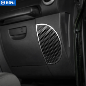 Image 4 - MOPAI ملصقات ديكور حلقة سماعات صوت لوحة القيادة لسيارات جيب رانجلر JK 2007 2010 اكسسوارات السيارات الداخلية