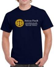 Random T Shirts Atticus Finch Lawyer Law Mockingbird Book Literature English Men'S Novelty Short O-Neck Tees