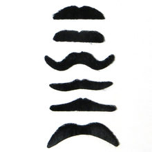 6 Pz/set Nero Del Partito Del Costume di Halloween Baffi Finti Baffi Divertente Barba Finta Baffo(China)