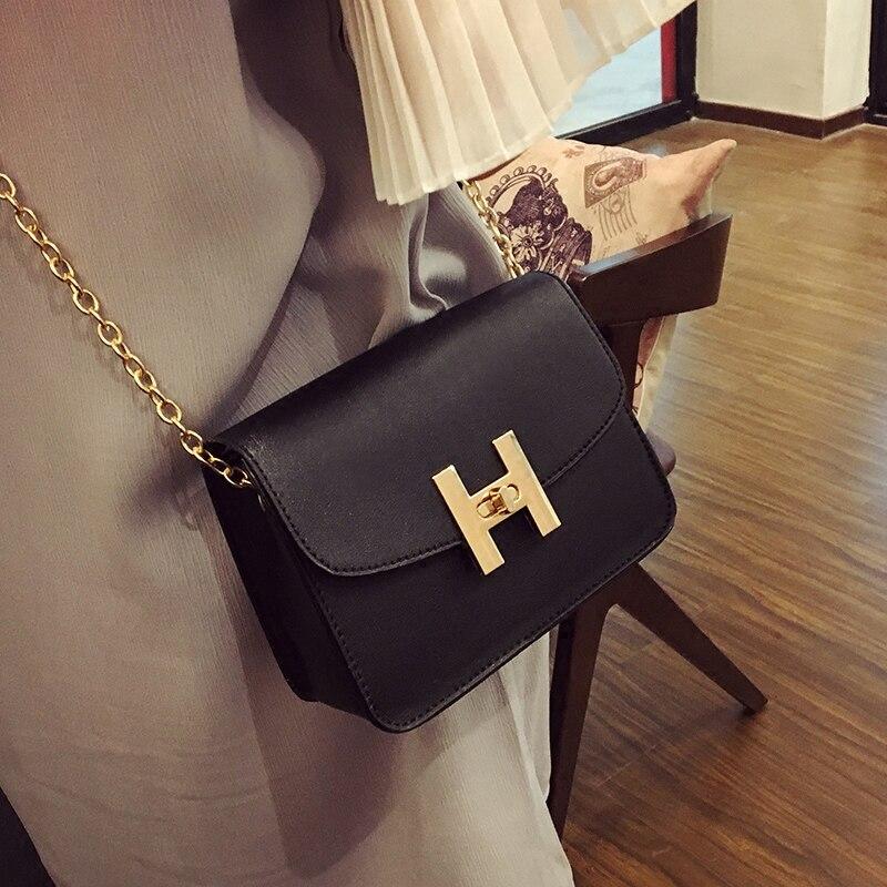 Envío gratuito, 2018 nuevos bolsos de mujer de tendencia, solapa simple a la moda, versión coreana bolso de hombro retro, bolso bandolera de mujer con cadena.