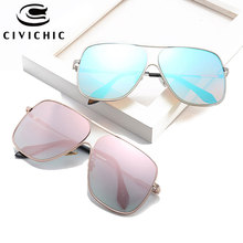 CIVICHIC New Large Sunglasses 2017 Men Women HD Oculos De Sol UV400 Street Snap